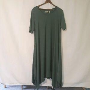 LOGO lounge flowy dress